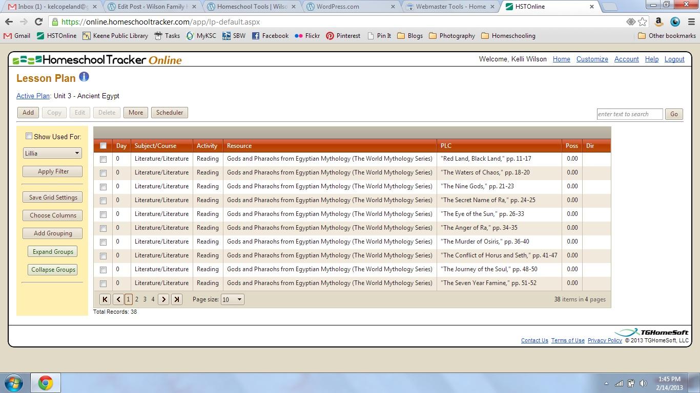 homeschool tracker screenshot